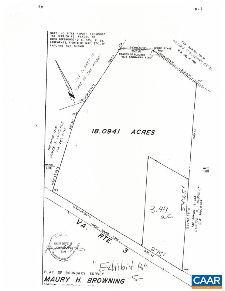 land for sale , MLS #531934,  Germanna Highway