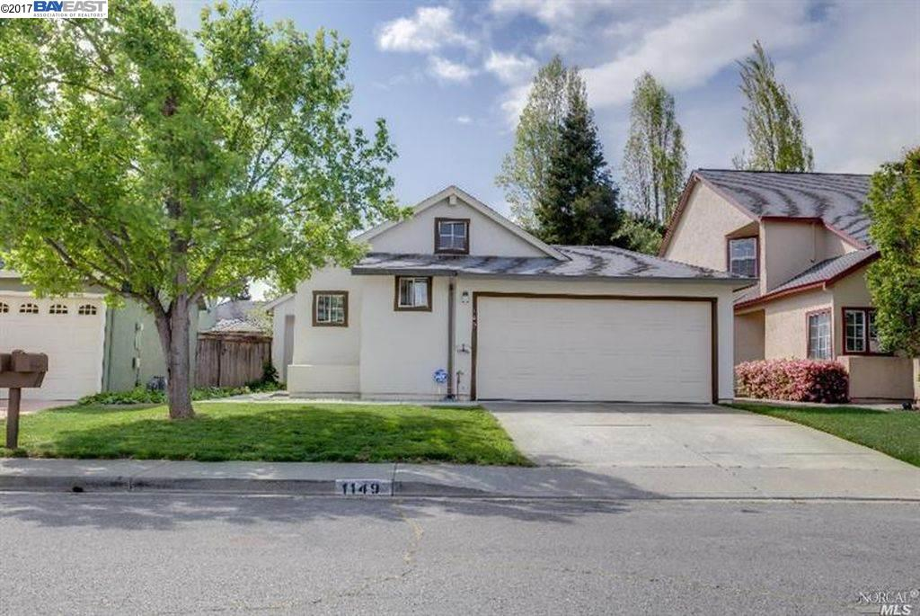 Single Family Home for Sale at 1149 Buckthorn Lane 1149 Buckthorn Lane Fairfield, California 94533 United States