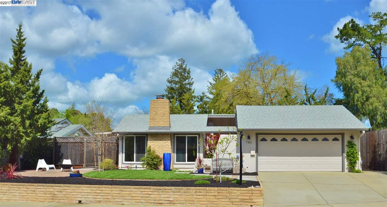 Single Family Home for Sale at 786 Bonita Avenue Pleasanton, California 94566 United States