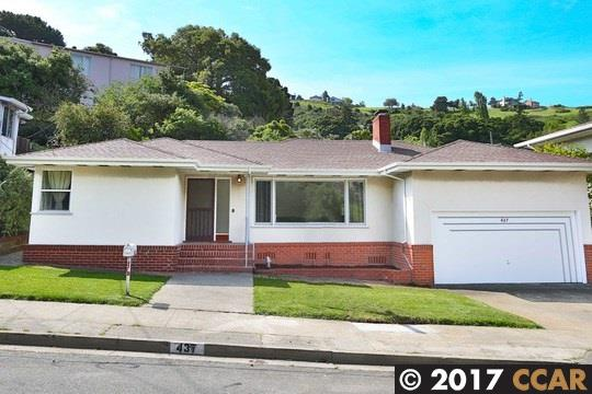 獨棟家庭住宅 為 出售 在 437 Pomona Street Crockett, 加利福尼亞州 94525 美國