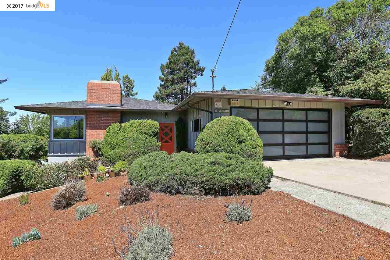 Casa Unifamiliar por un Venta en 8 ANSON WAY Kensington, California 94707 Estados Unidos