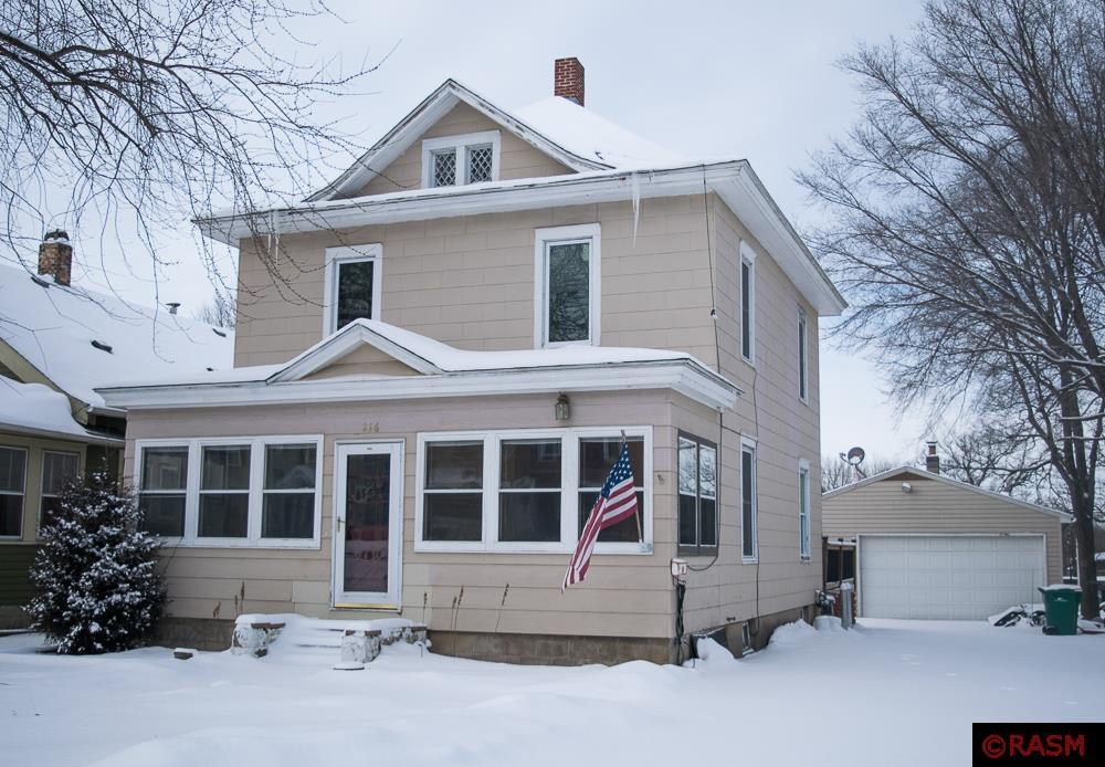 This spacious 1914 home is situated in a quiet downtown Le Sueur neighborhood. Along with its gorgeous old-fashioned woodwork, this home features four bedrooms and a full bath on the second floor. Downstairs boasts a family sized living room and dining room area, full kitchen, beautiful traditional style foyer, and a great 3 season porch off the front of the house. Outside features a large back deck, fenced in yard and an outstanding 2.5 stall finished garage.